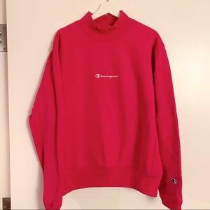 Hot pink champion sweatshirt